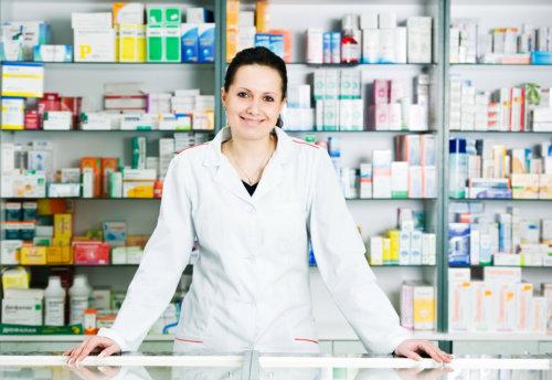 a female pharmacist
