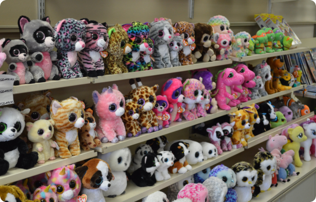 a picure of stuffed toys