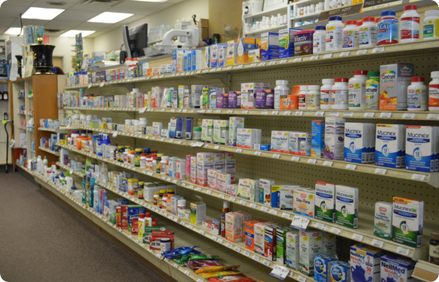 a picture inside the pharmacy